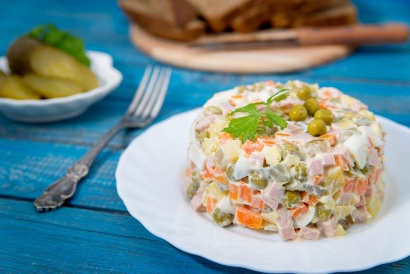 Traditional Russian salad Olivie - Global Storybook
