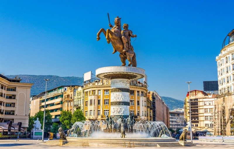 Warrior on a Horse Statue, Skopje, Macedonia - Global Storybook