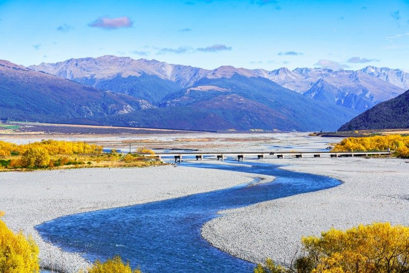Arthur's pass National Park in Autumn , South Island of New Zealand - Global Storybook