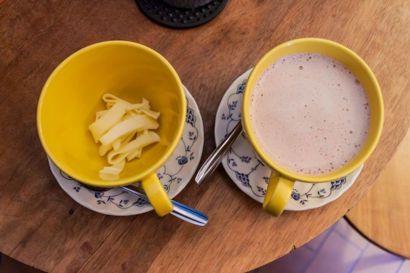 Bogota Tradition Drink Cheese and Hot Chocolate