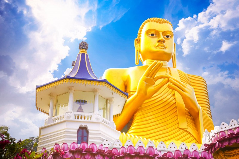 Dambulla, Golden Buddha statue, Sri Lanka - Global Storybook