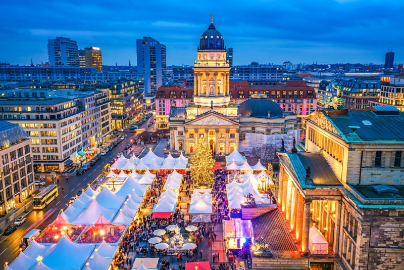 Germany - Christmas market, Deutscher Dom and konzerthaus in Berlin, Germany - Global Storybook