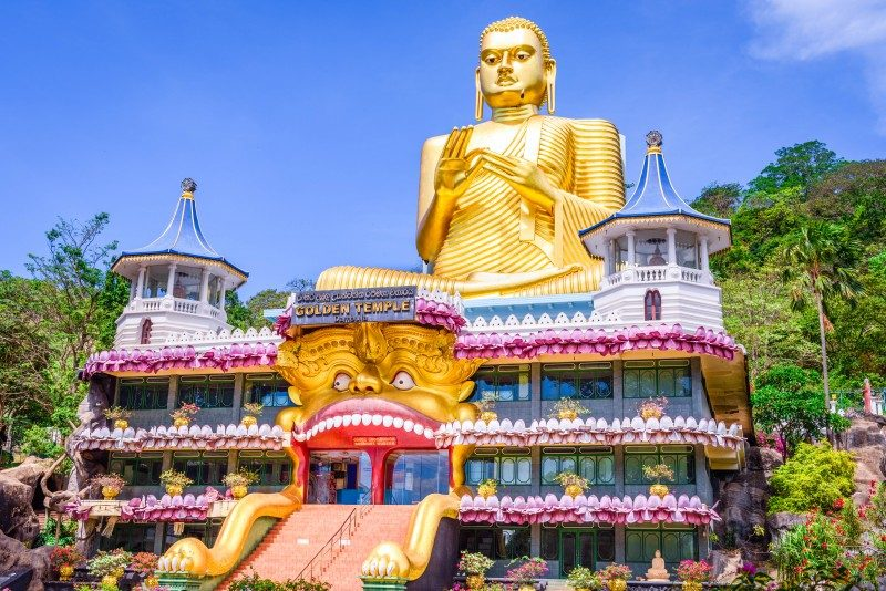 Golden temple in Dambulla, Sri Lanka - Global Storyboo