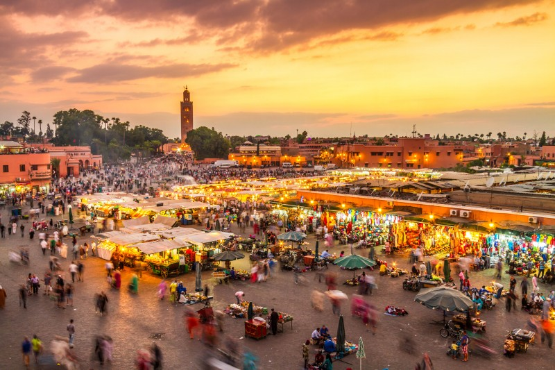 Jamaa el Fna market square, Marrakesh, Morocco - Global Storybook