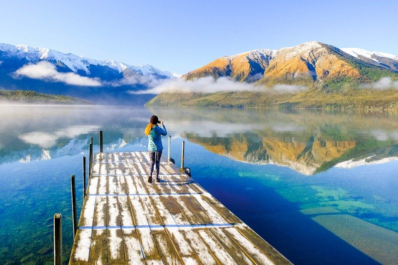 Lake Rotoiti. Nelson Lakes National Park, Southern Alps, New Zealand - Global Storybook