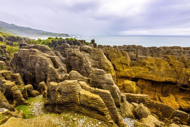 Pancake Rocks and Blowholes, Paparoa National Park, West Coast, New Zealand - Global Storybook