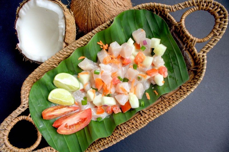Polynesian raw fish salad with cucumber, lime, tomato and coconut milk, Guam - Global Storybook