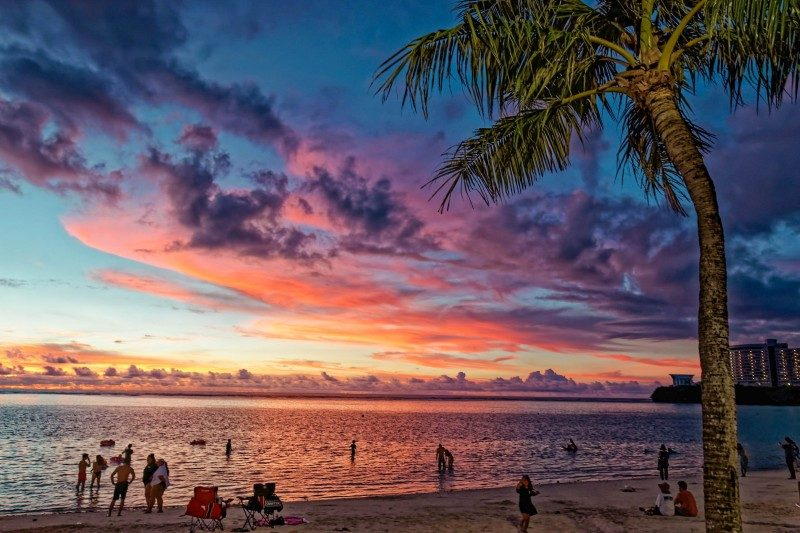Sunset at Tumon beach, Guam - Global Storybook