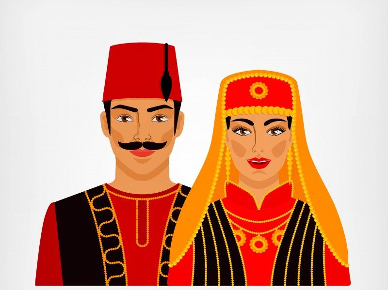 Turkish couple in national costume - Global Storybook
