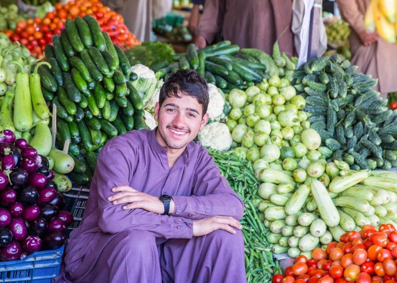 fruit and vegetables seller in a village of the Besham, Pakistan - Global Storybook